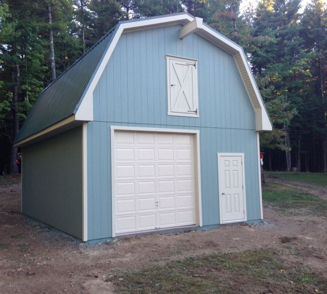 24x36 2 Car 2 Story Garage: Backyard Sheds