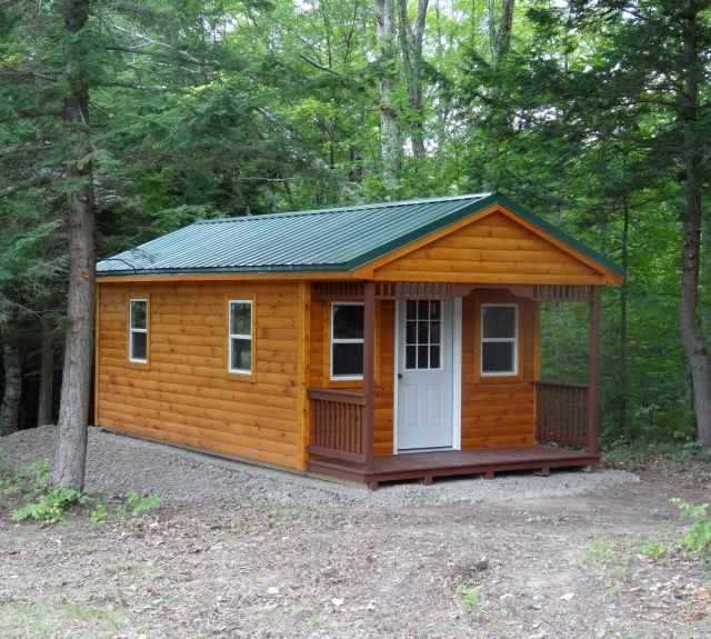 12 x 24 log cabin in the woods