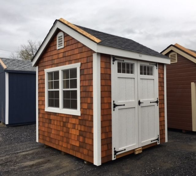 8x8 new england cedar shake 7' cottage